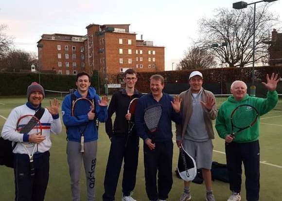 Grantham Tennis Club men's fifth team are, from left ' Sim Cook, Will Kappen, Robbie Curtis, Richard Stahel, Matt Brookes and Stephen Fay.