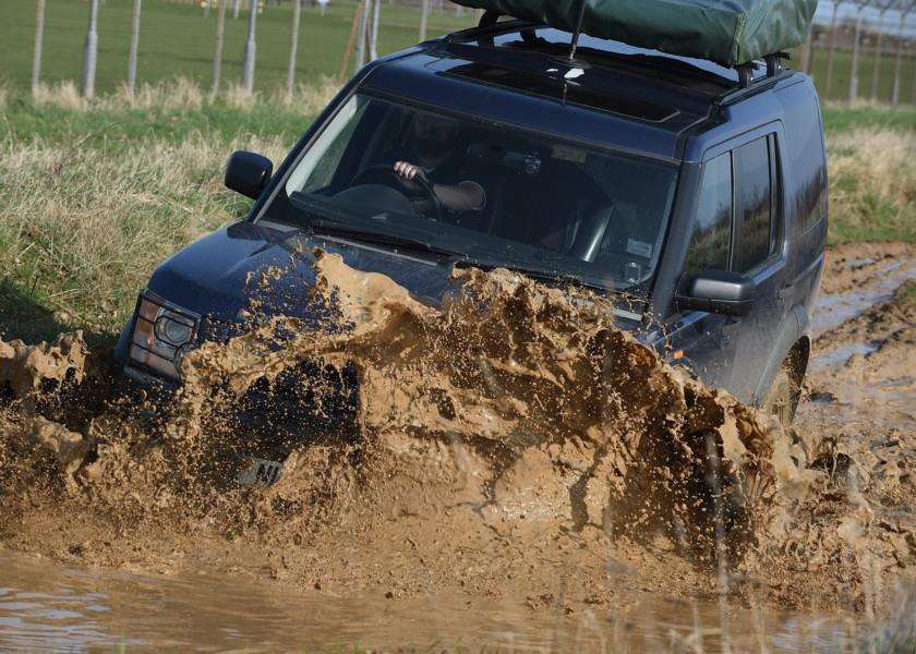 Going through the mire....the Land Rover event at Grantham barracks.