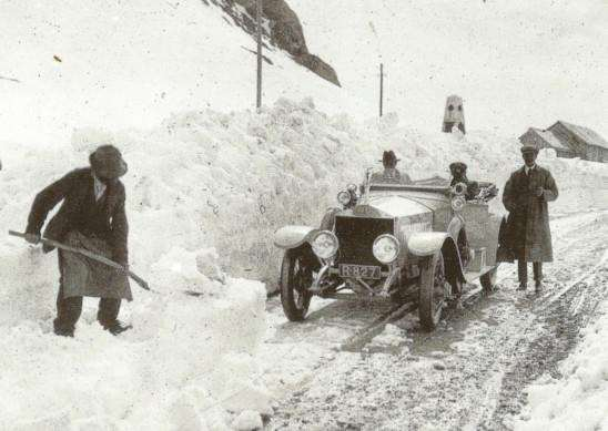 Rolls-Royce on the Pordoi Pass in 1913. Photo: PA