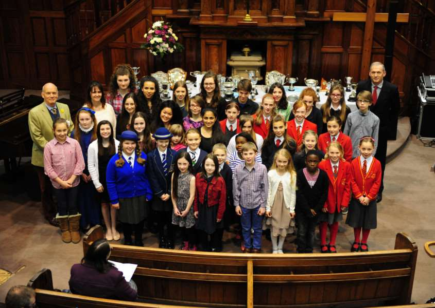 Prizewinners at the Grantham Music Festival 2015. Photo: 300A (5) EMN-150326-120940001