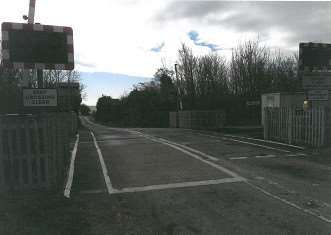 The level crossing in Wilsford which was mistaken for a side road at night.