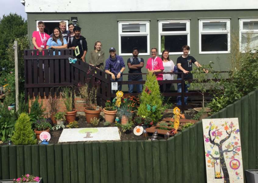 Teenagers of the National Citizens Service built a sensory garden for Ingoldsby Academy.