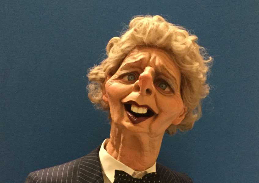 Margaret Thatcher's Spitting Image puppet will be open for the public to view tomorrow.