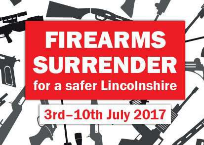 Firearms surrender in Lincolnshire.