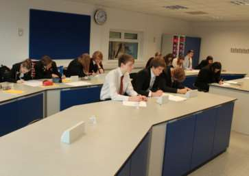 A new science laboratory at Charles Read Academy in Corby Glen.