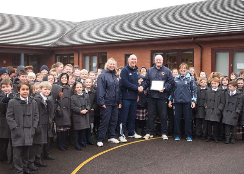 Granthm Prep School receives the Platinum Sports Award