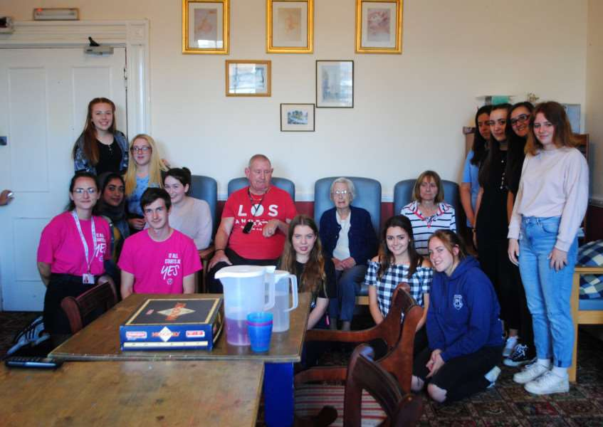 The NCS group spent the week with clients at the Forget-Me-Not Day Centre, on St Peter's Hill last week.