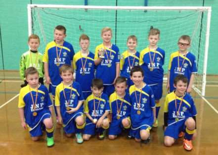 Victorious Gonerby Yellows under-10s
