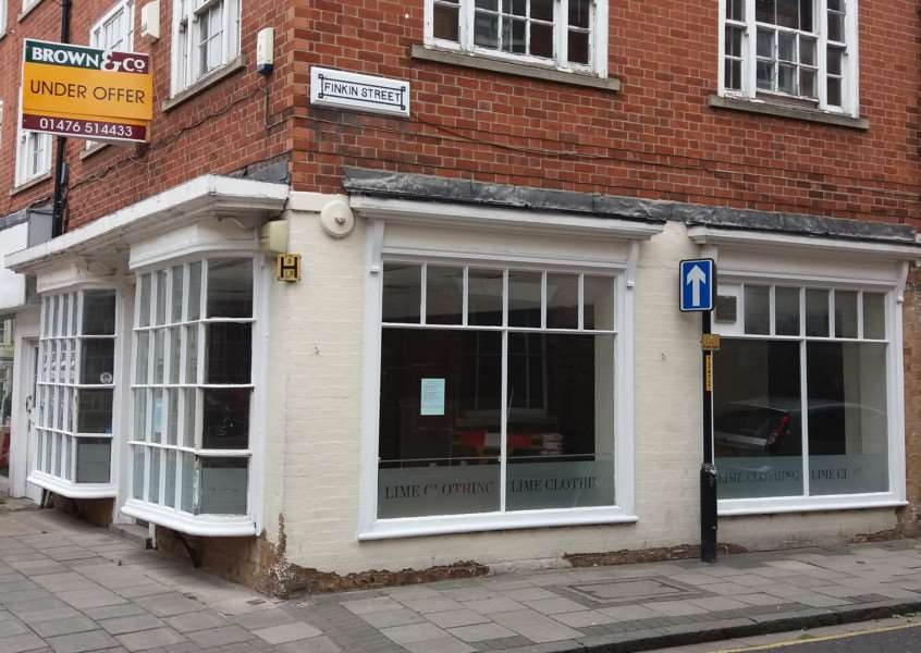 The proposed premises for the Real Burger Co restaurant, in High Street, Grantham.
