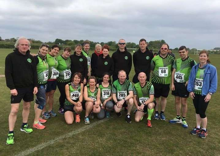 Grantham Running Club members at Sleaford.