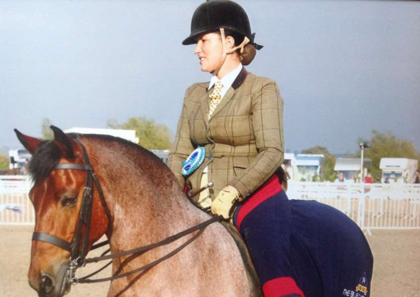 Abigail Staff qualifying Harvey at Olympia this year.