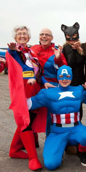 Supergran Maureen Kettle, left, did a skydive to raise money for St Andrew's Hospice.