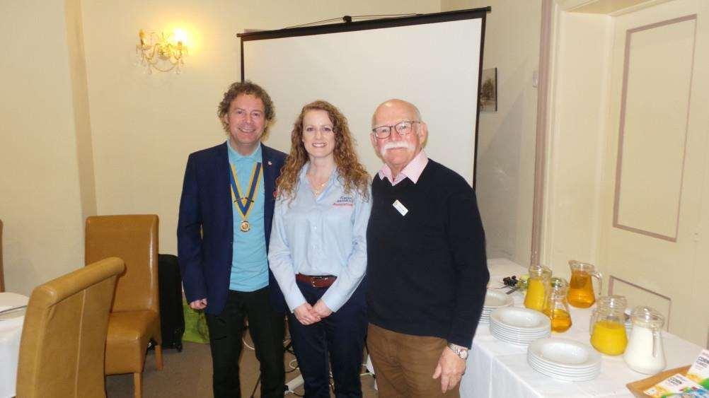 From left are Lez Jones, Katherine Montgomery, of the RAF Association, and RAF veteran Kevin Lawry, at a recent meeting which celebrated 100 years of the RAF.