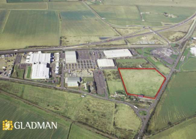 Aerial picture shows the Grantham Distribution Park that has just been sold for an undisclosed sum.