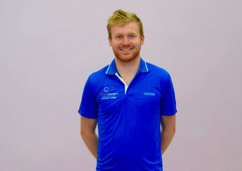 Gavin Evans, who has won many titles, is the new table tennis coach at Grantham College.