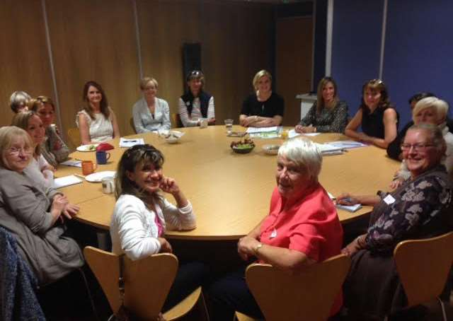 Home-Start volunteers receive training on domestic abuse.
