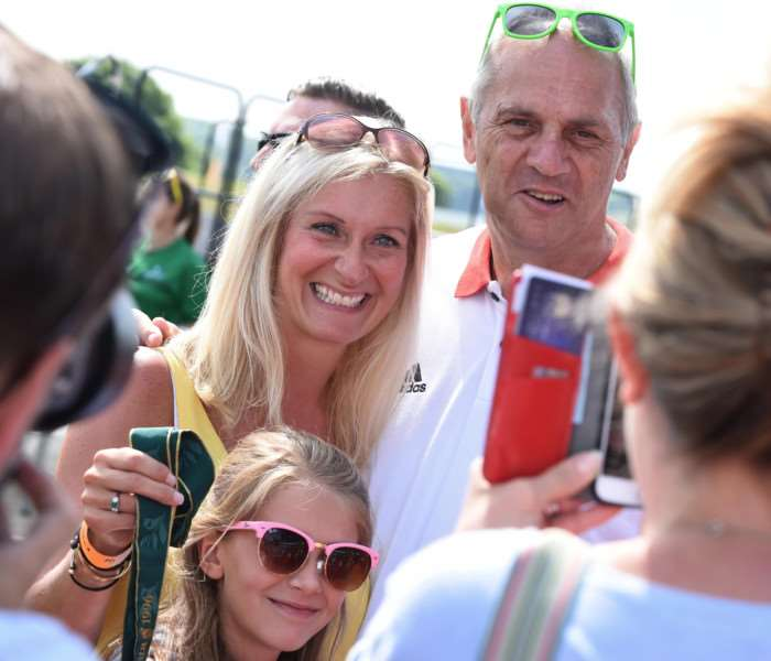 Sir Steve Redgrave meets fans at the Summer Cup.