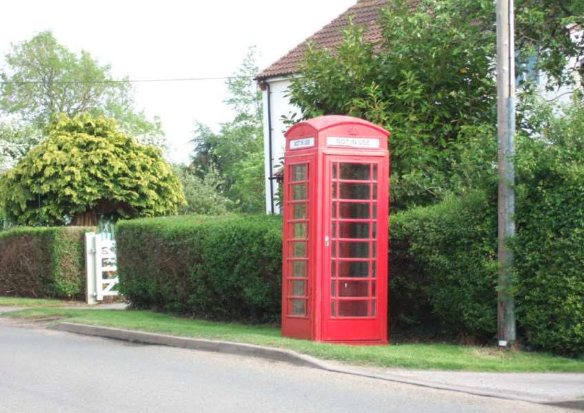 The telephone box in question which residents have suggested could be turned into a book swap facility. Photo courtesy of Steve Cattell.