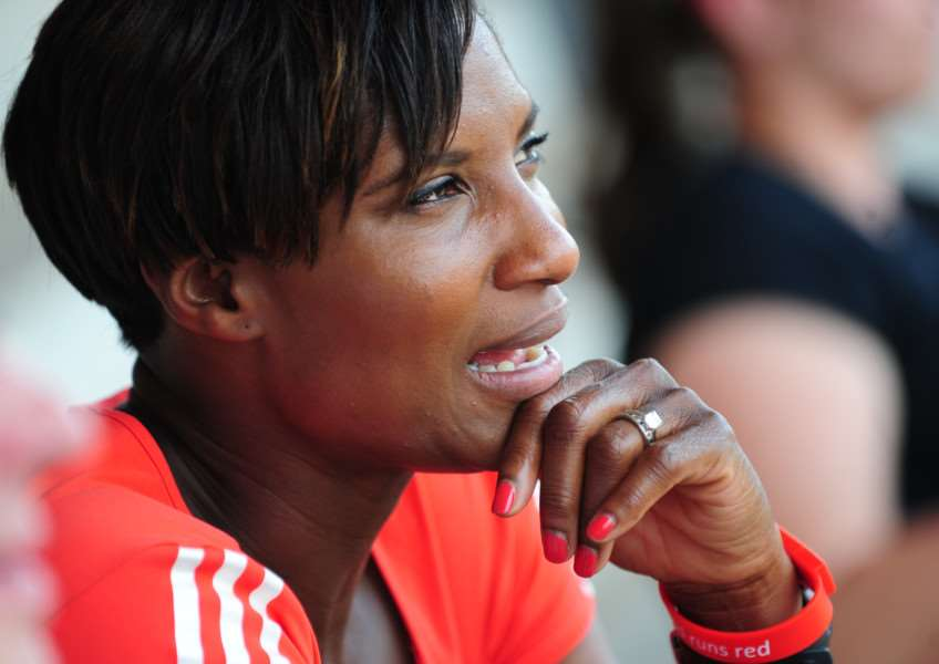 Denise Lewis at the Summer Cup. Photo: TRP-1-7-2015-396A (21)