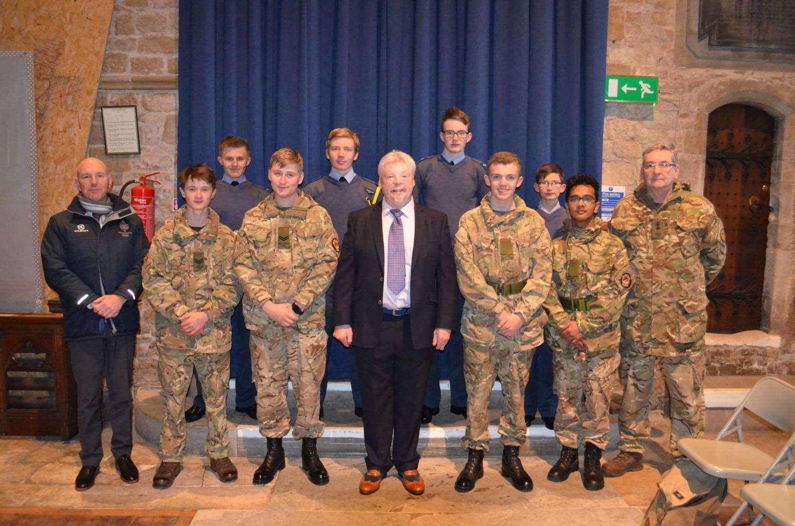King's School students meet former soldier Simon Weston who was badly injured in the Falklands War. (22298525)