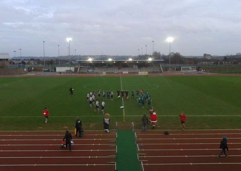 Grantham Town and Nantwich Town prepare to do battle at The Meres. _XlYy-5alrOvcsWUNANy