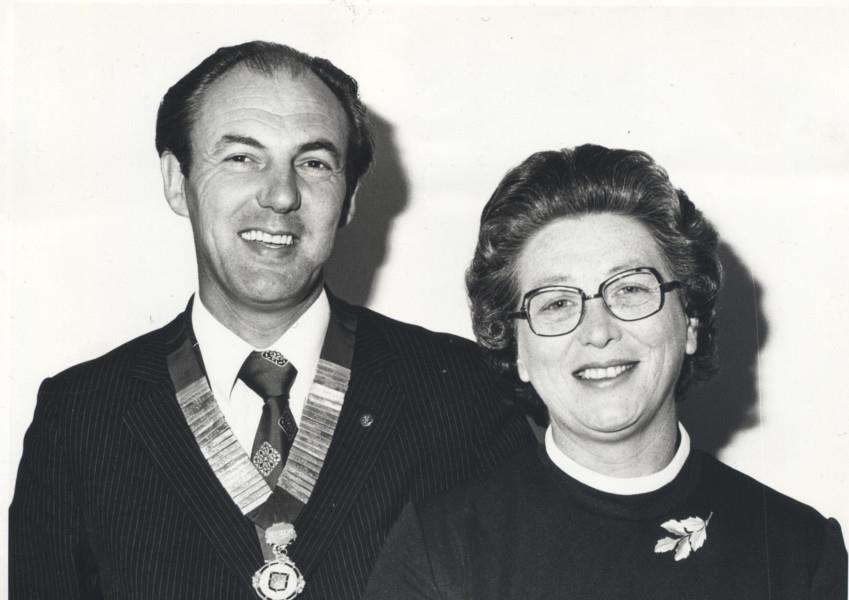 Double act: David and Sheila Holland opened the first purpose built funeral directors in Grantham in 1969.