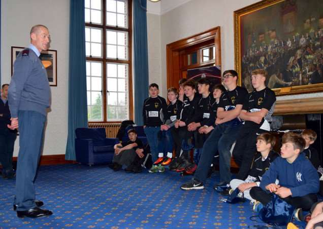 Kesteven RFC Under 14s at Royal Air Force College Cranwell