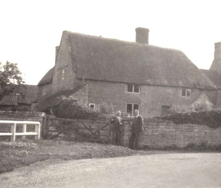 The Oasby family home of Harry Quiningborough, pictured in 1938.
