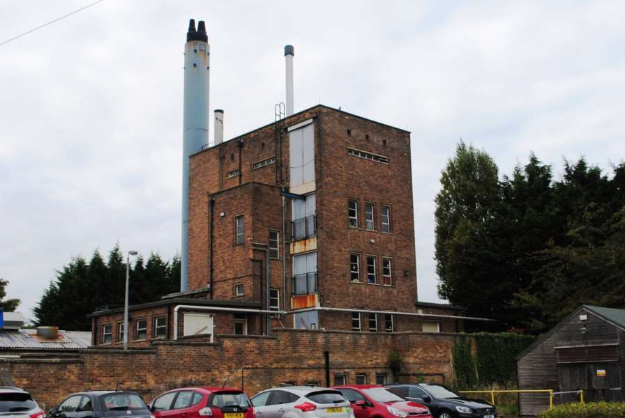 The old boiler house which was put out of action by a fire in 2013.