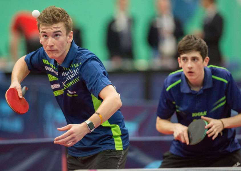 National doubles champions Matt Leete and Josh Bennett in action. Photo: Michael Loveder