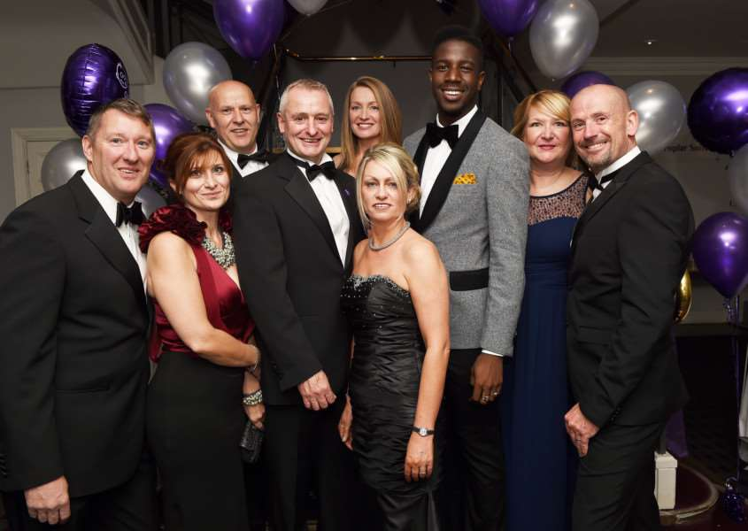 The Naomi Fund Charity Ball: Pictured centre, Michelle and Dean Fardell with Ben Benbow and Jermain Jackman, among other guests