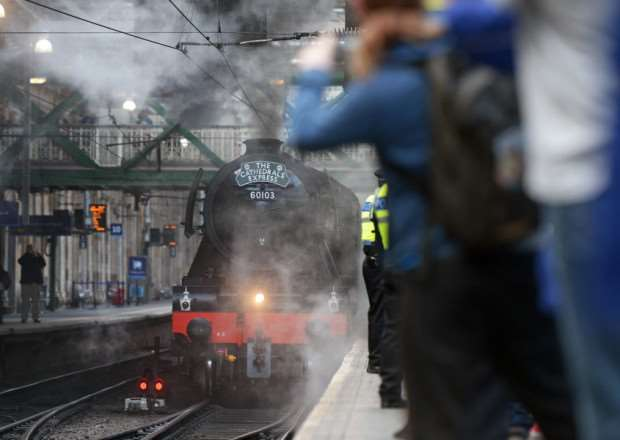 Thousands of steam enthusiasts celebrate the Flying Scotsman. Picture: Neil Hanna