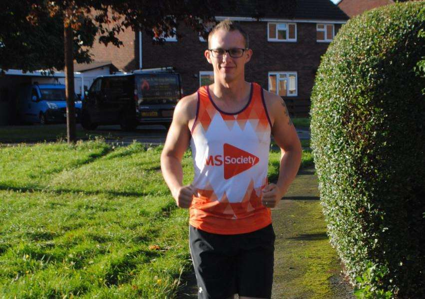 Steve Whatley is hoping to raise more than �500 for the Multiple Sclerosis Society.