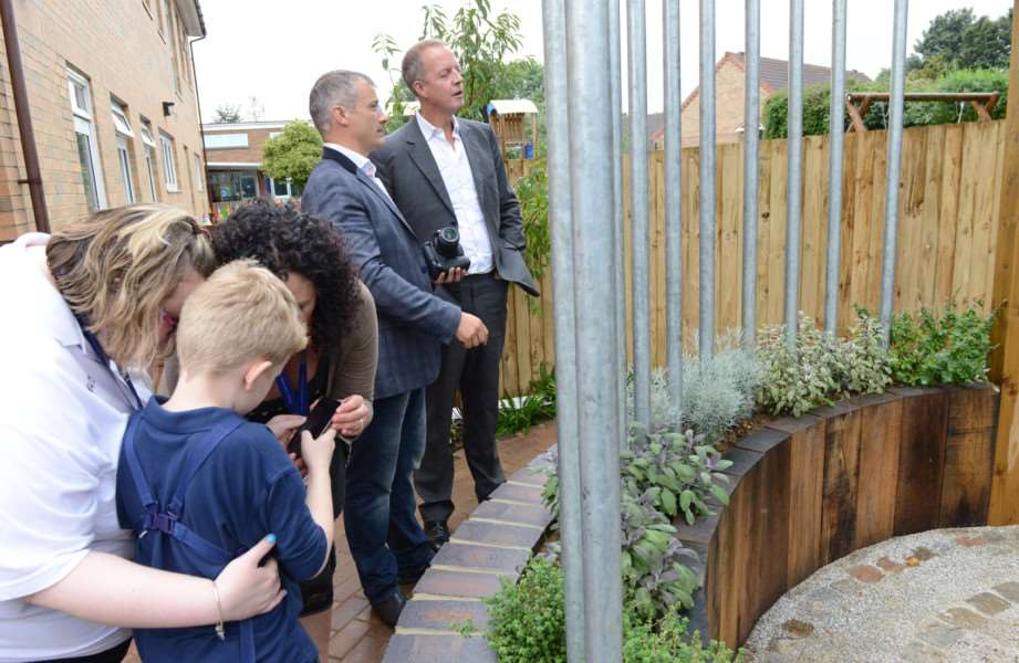 The opening of the new sensory garden at Sandon School in Grantham.
