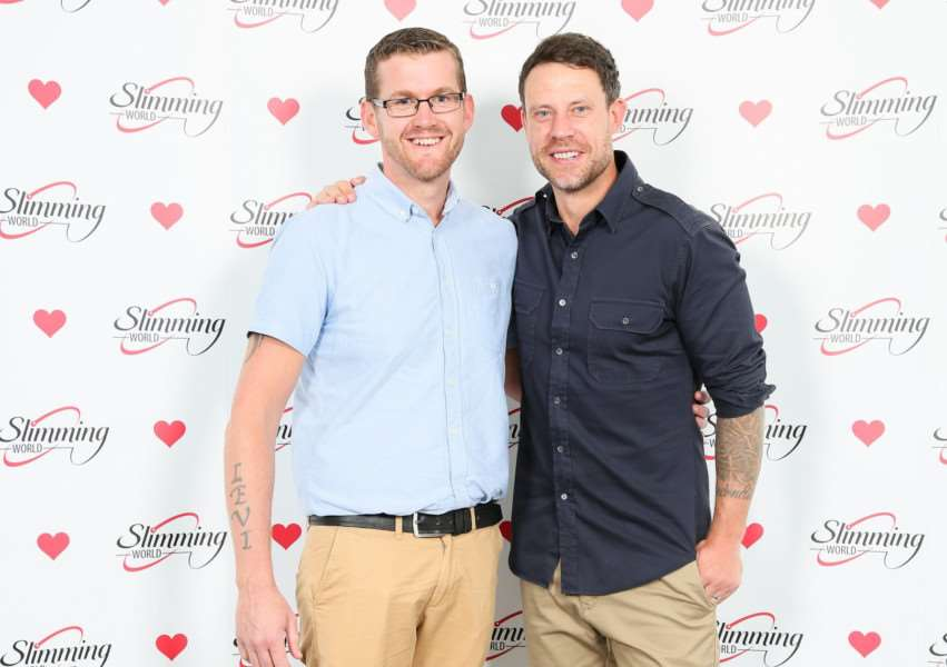 Allington slimmer Kevin McMahon meets former England and Chelsea footballer Wayne Bridge at the semi-final of Slimming World's Man of the Year 2017 competition.