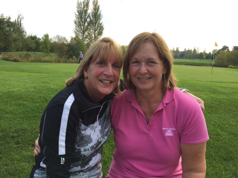 Belton Woods ladies' Autumn Meet winners Sue Raynor and Carole Stothard.