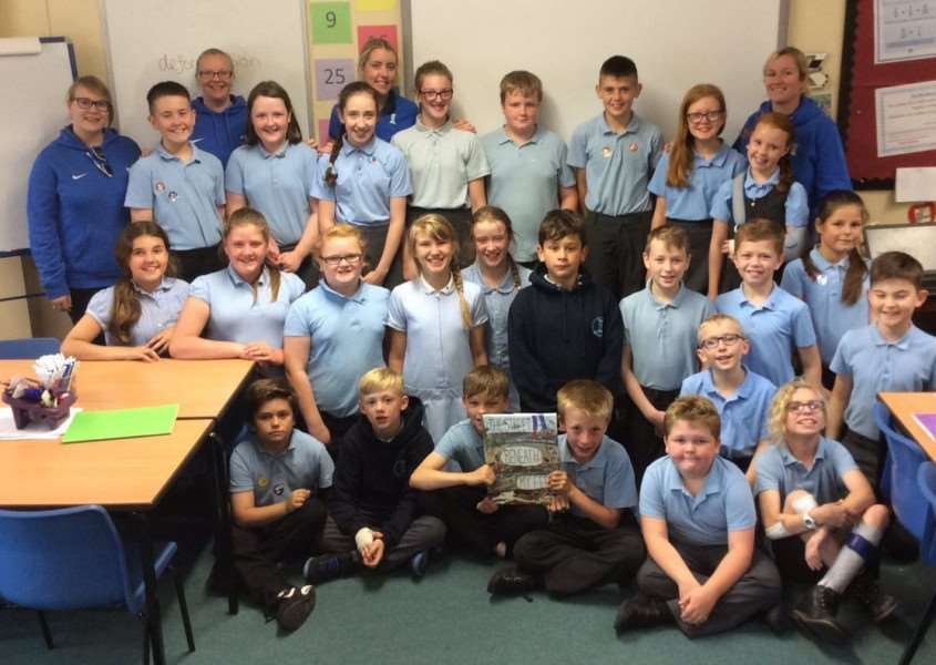 The 'Zebras class' at Huntingtower School won a signed copy of 'The Street Beneath My Feet.'