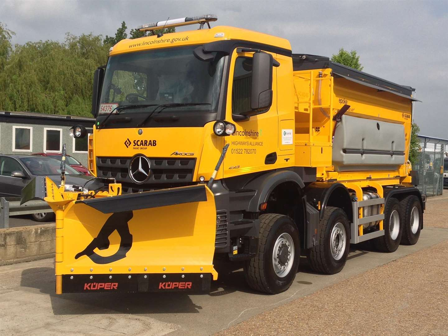 A Lincolnshire County Council gritter. (6342427)
