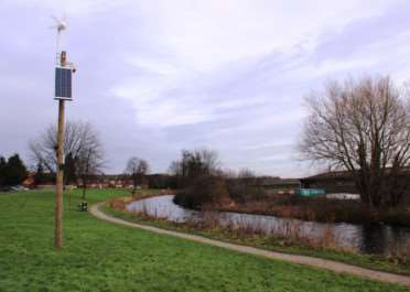 Upgraded CCTV by Grantham Canal, installed in a bid to prevent fly-tipping.