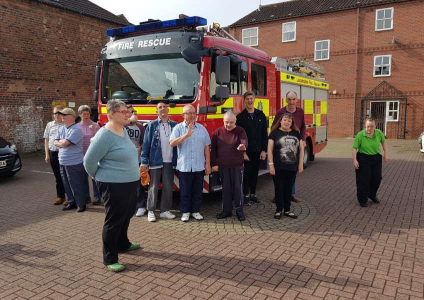 Grantham fire service have been out giving home safety advice at St John's day centre.