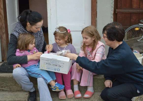 A Rotary shoebox helps to give someone in Eastern Europe a welcome boost in their time of need.
