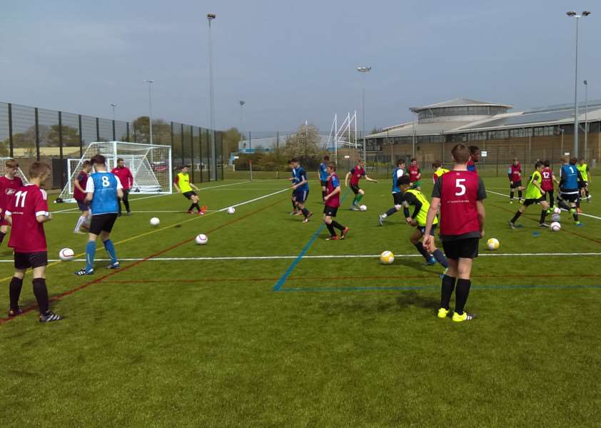 Grantham Town Academy trial day.