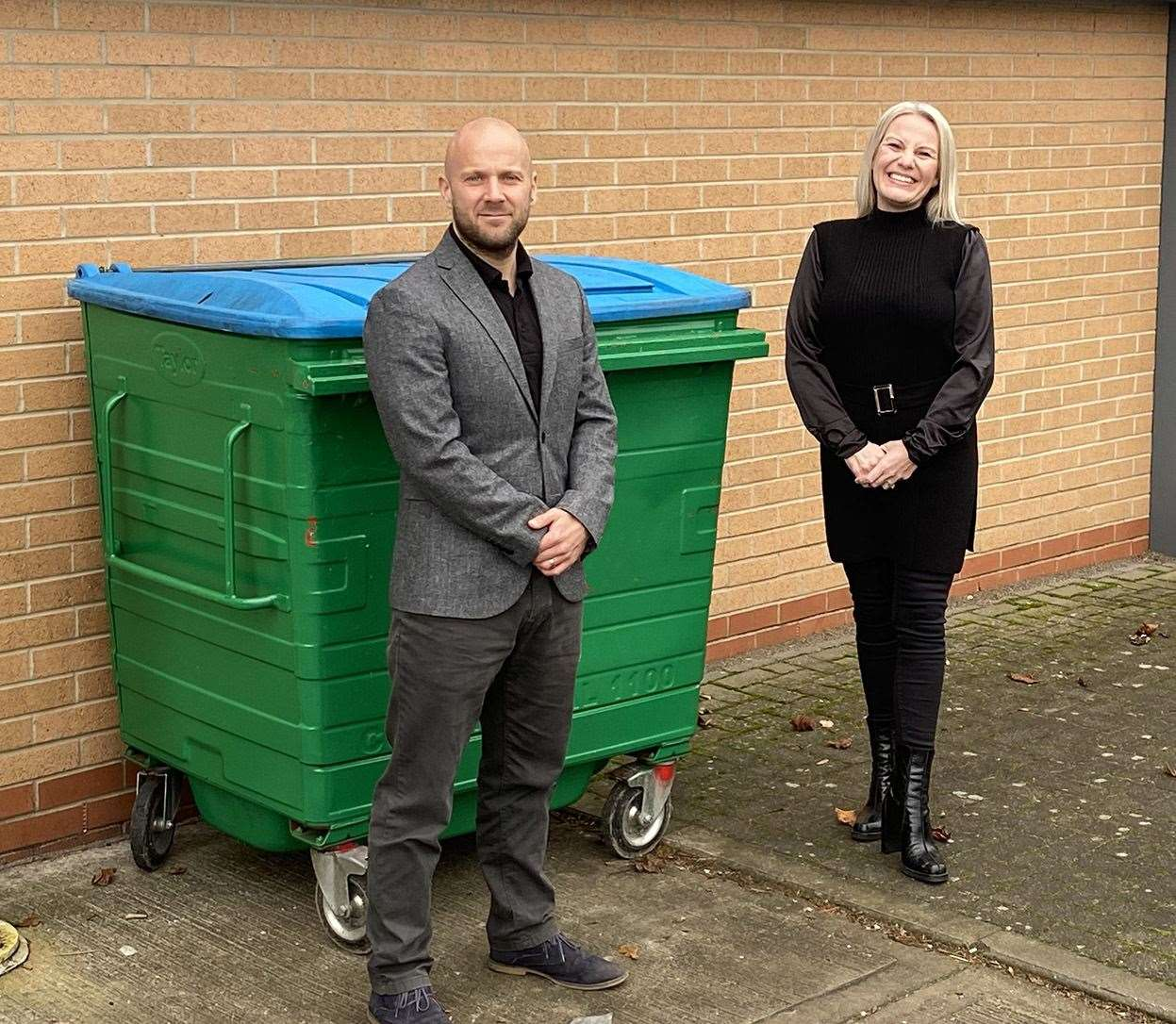 Paul Whittaker and new business development manager Kelly Mycroft of The Waste Specialists. (43861254)
