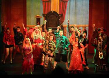 Polka Dot's production of Aladdin at the Guildhall in Grantham.