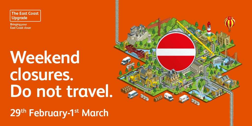 There are no trains in or out of King's Cross this weekend. (30370899)