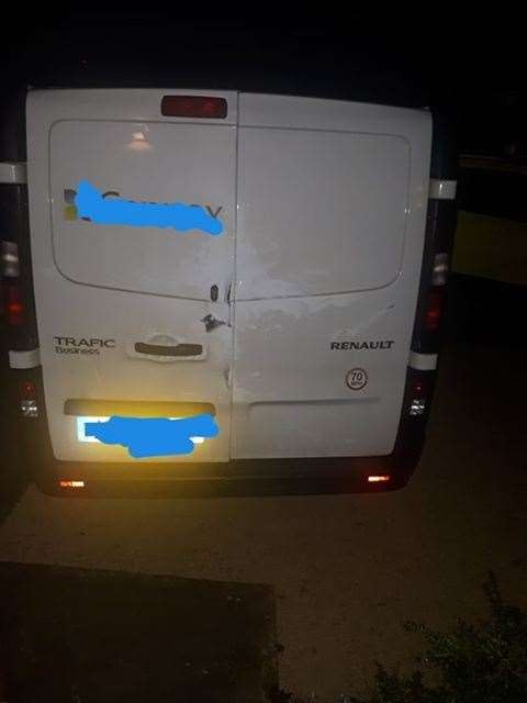 The van was broken into in the early hours of this morning. (22572551)