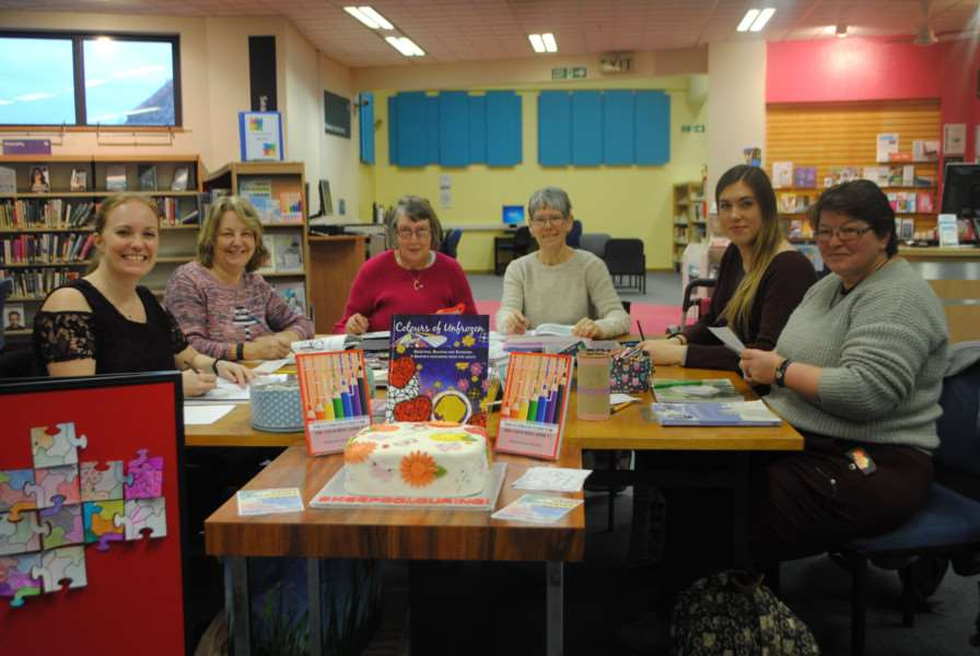From left, Abbirose Adey, Ladey Adey, Lorraine Featherstone, Eileen West, Charlotte Caves and Milly Clayphan.