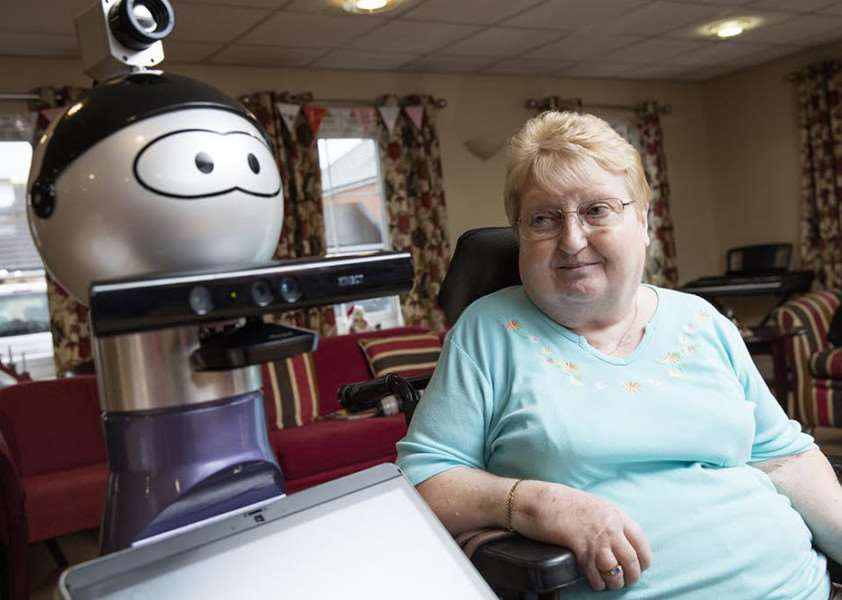 Project will see Alfie the robot helping town's elderly people.