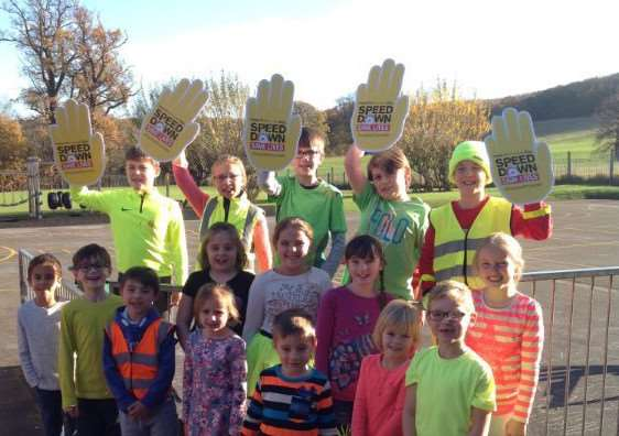 Pupils dressed in their brightest outfits.