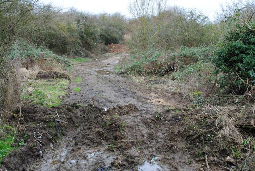 The quagmire that is Sheepwash Lane, Grantham.